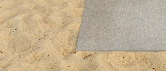 Dry installation on sand
