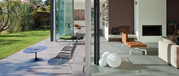 Indoors and out brought together by one elegant, refined surface