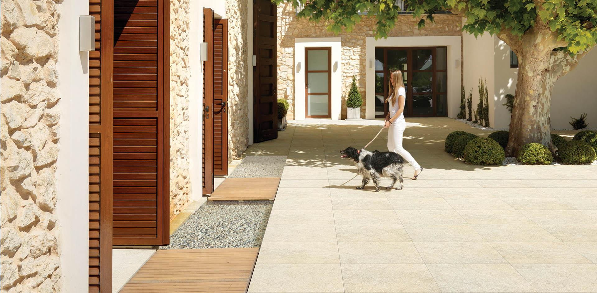 Outdoor pavements, tiles for raised floors - FMG Fabbrica Marmi e ...