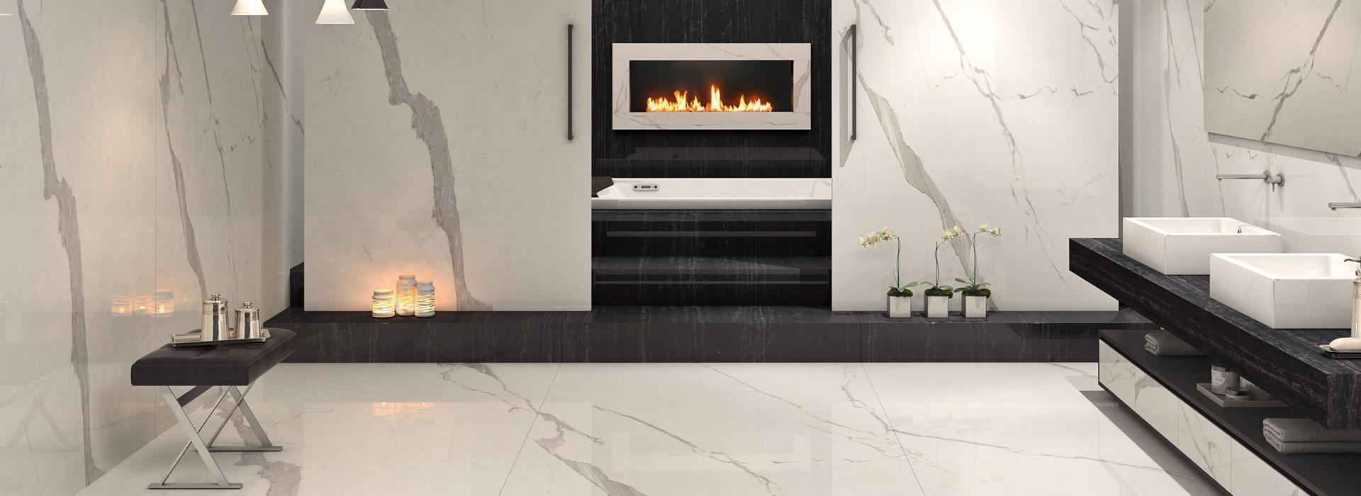 Marble Effectfloors And Walls