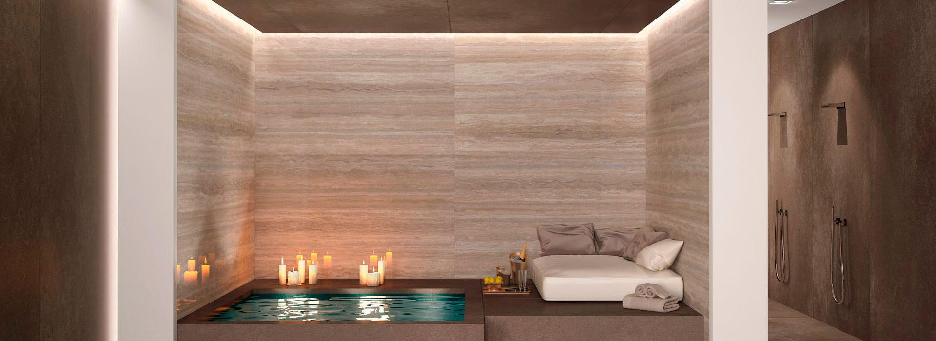 Well-known Travertino Maxfine, big porcelain tiles that look like travertine  LE74